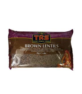 TRS Whole Brown Lentils (Malika/Masoor) - 1kg