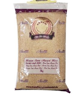 Annam BROWN Sona Masoori Rice - 5kg